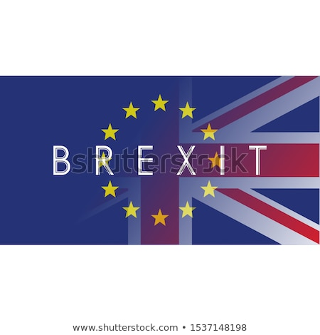 Brexit, the exit of Great Britain from the European Union. Vector illustration with flags of UK and  Stock photo © m_pavlov
