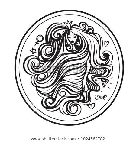 perm hair girl_Mental Stock photo © toyotoyo