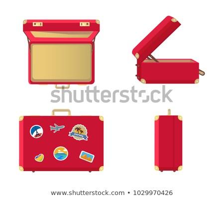 Superior vista ilustración rojo viaje maleta Foto stock © Sonya_illustrations