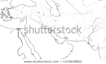 World Map of MIDDLE EAST REGION: Asia Minor, Levant, Near East, Middle East. (Geographic chart). Stock photo © Glasaigh