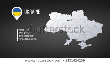 Ukrayna harita genel bilgi infographics düzenlenebilir Stok fotoğraf © kyryloff