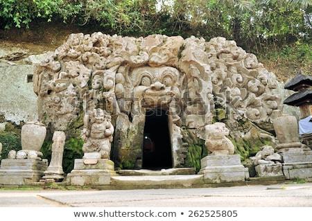 Foto stock: Old Hindu Temple Of Goa Gajah Near Ubud On The Island Of Bali Indonesia