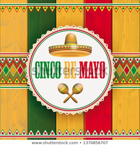 maionese · legno · ornamenti · emblema · sombrero · legno - foto d'archivio © limbi007