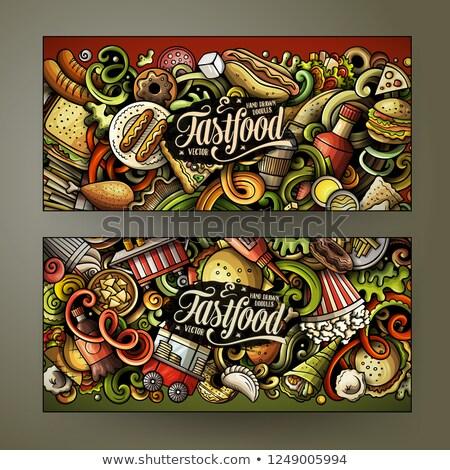 ベクトル · セット · ポップコーン · 食品 · デザイン · 図面 - ストックフォト © balabolka
