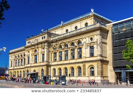 ロイヤル 劇場 コペンハーゲン 空 文化 彫刻 ストックフォト © borisb17