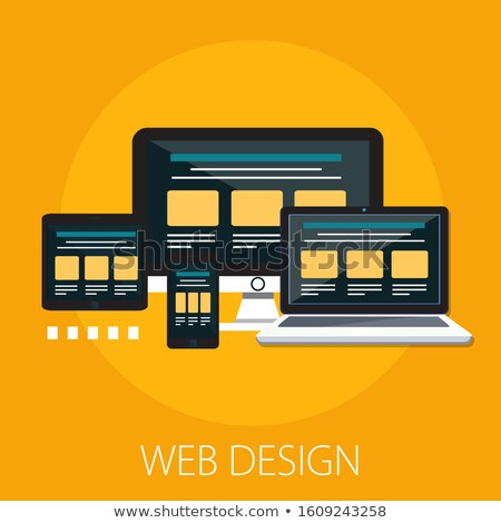 Web Design Template, Pc Equipment, Webpage Vector Stock photo © robuart