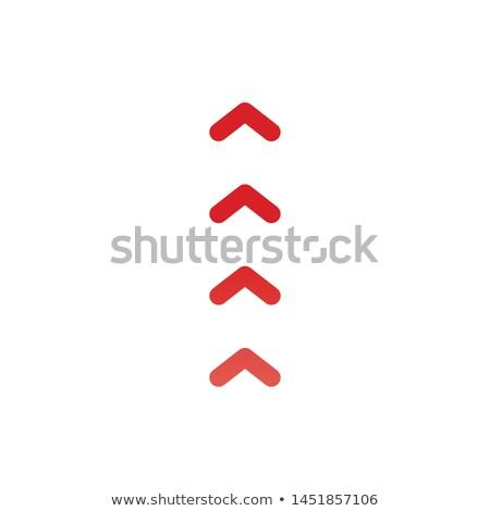 upward arrows icon. Four arrows flat design. vector illustration isolated on white background. Stock photo © kyryloff
