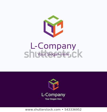 Cube grid Letter L 3D Stock photo © djmilic