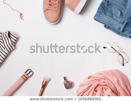 mode · bril · pastel · top · vrouw - stockfoto © serdechny