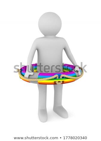 lgbt ring on white background. Isolated 3D illustration Stock photo © ISerg
