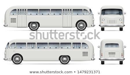 Realistic old bus vector mockup Stock photo © YuriSchmidt