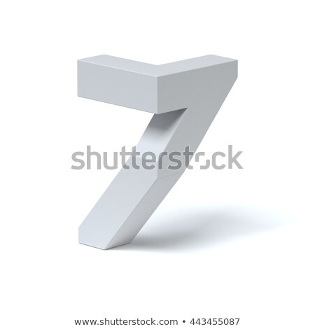 Blue extruded Number 7 SEVEN 3D Stock photo © djmilic