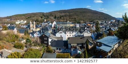 mal · Alemania · histórico · casas · río · cielo - foto stock © borisb17