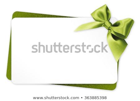 Grünen Geschenkkarte groß Auflösung Werbe- Geschenkgutschein Stock foto © kbuntu