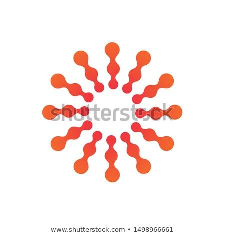 抽象的な 分子の ナノテクノロジー 太陽 日光 ストックフォト © kyryloff