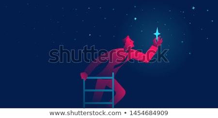 motivatie · zakenman · trofee · beker · springen · boeken - stockfoto © rastudio