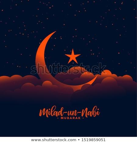 Gyönyörű UN terv hold csillag fölött Stock fotó © SArts