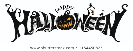 счастливым Хэллоуин тип текста изолированный Сток-фото © orensila