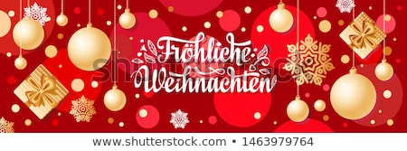 Happy New Year 2020 german card gold 3d ornament Stock photo © cienpies