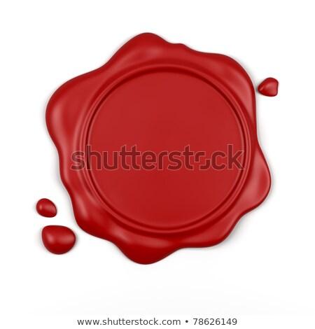 красный воск печать белый компьютер генерируется Сток-фото © blotty