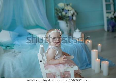 мало ребенка год рождения сидят кровать Сток-фото © ElenaBatkova