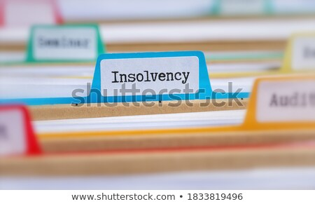 File folders with a tab labeled Loans Stock photo © Zerbor