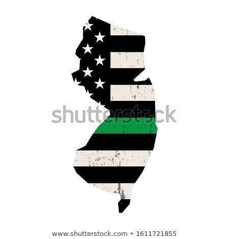 New Jersey militaire ondersteuning Amerikaanse vlag illustratie vorm Stockfoto © enterlinedesign