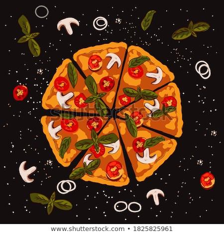 Vegetarier italienisch Pizza Werbung Banner Vektor Stock foto © pikepicture