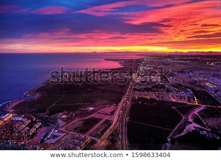 Aerial photography picturesque sunset over Torrevieja spanish re Stock photo © amok