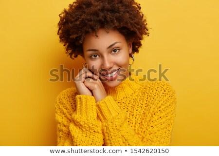 Angenehm schauen dunkel weiblichen zufrieden Gesichtsausdruck Stock foto © vkstudio