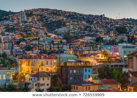 View over one of the hills of Valparaiso  Stock photo © elxeneize