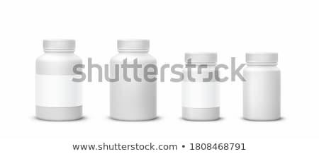 пластиковых банку Label изолированный белый вектора Сток-фото © Lady-Luck