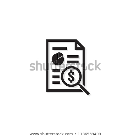 total money icon vector outline illustration Stock photo © pikepicture