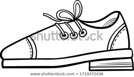 Skóry buty obiektu cartoon clipart kolor Zdjęcia stock © izakowski