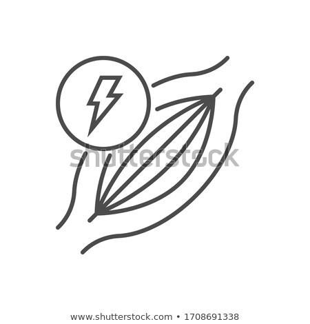Dor muscular vetor fino linha ícone músculo Foto stock © smoki