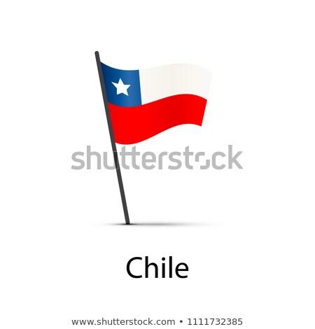 Chile bandeira pólo elemento branco Foto stock © evgeny89