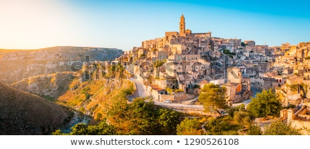 View of the historic old town of Matera Stock photo © elxeneize