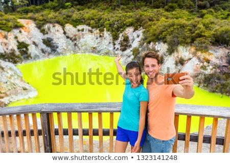 New Zealand toeristische attractie paar toeristen Stockfoto © Maridav