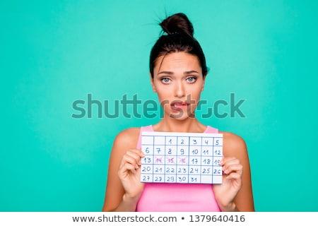 şüpheli · güzel · genç · kadın · kahverengi · gözleri - stok fotoğraf © aladin66