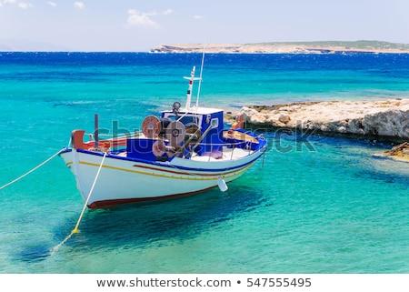 részlet · tengerpart · sziget · Görögország · szeles · nap - stock fotó © hofmeester