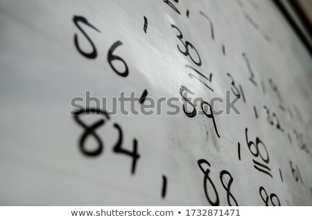 Times tables written on a whiteboard. Stock photo © latent