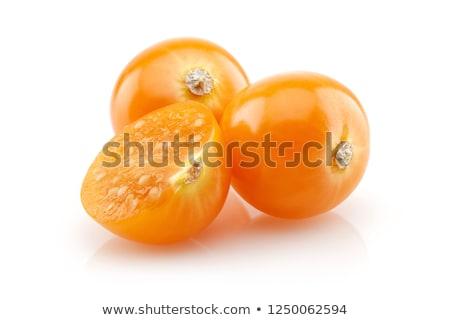 yalıtılmış · beyaz · çiçek · meyve · arka · plan · turuncu - stok fotoğraf © alphacell