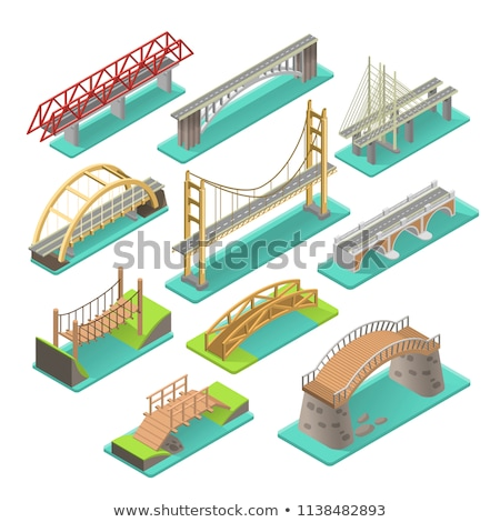 railway and automobile bridge stock photo © simply