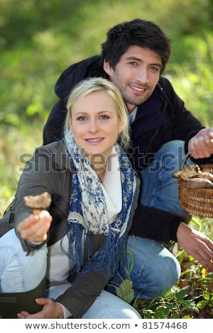 recoger · setas · naturales · madera · alimentos - foto stock © photography33