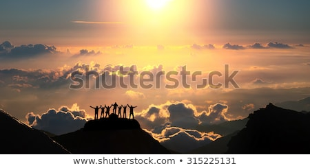 Cloudscape on the top of mountains Stock photo © bbbar