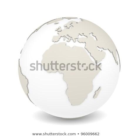 aarde · globes · ingesteld · bronzen · zwarte · oceaan - stockfoto © johanh