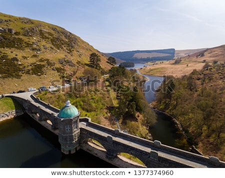Craig Goch reservoir and dam arches, Elan Valley Wales UK. Stock photo © latent