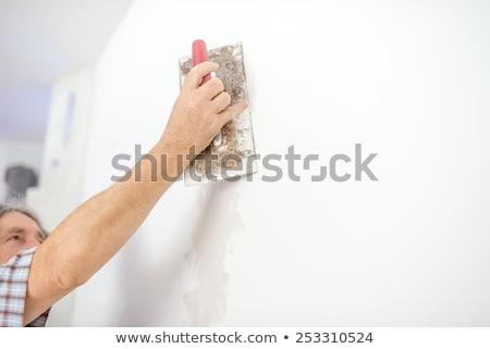 Plasterer preparing wall Stock photo © photography33