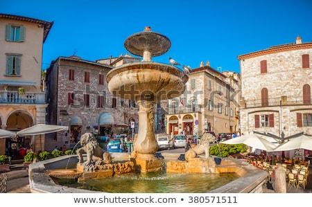Assisi fountain in the Main Square Stock photo © wjarek