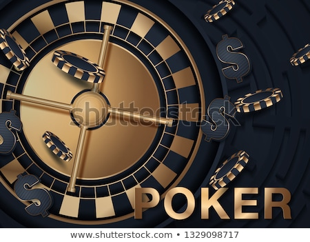 Gambling illustration with casino elements on white background. Stock photo © articular